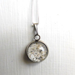 ash bubble necklace urn silver hypoallergenic