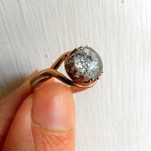 Rose Gold Ash Cremation Ring Urn Jewelry Keepsake Memorial Adjustable
