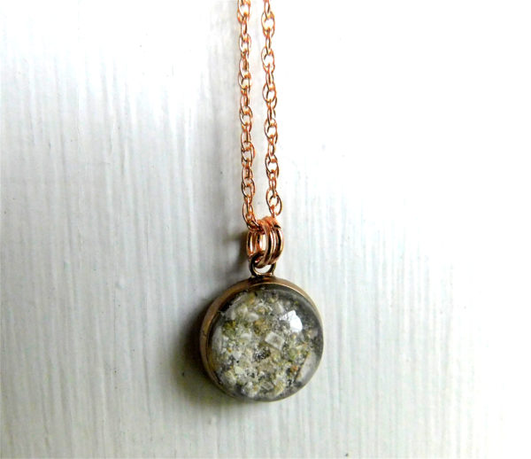 ash bubble necklace urn rose gold hypoallergenic